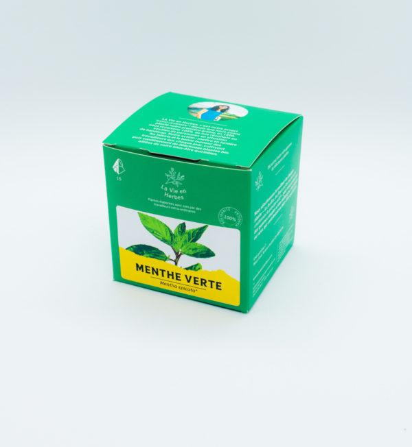 tisane la vie en herbes menthe verte